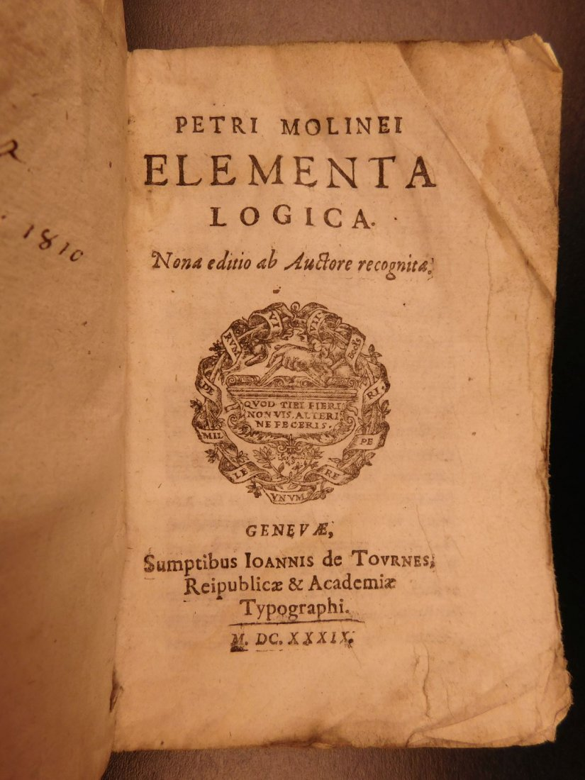 1639 Elements of LOGIC + Fortune Telling Prophecy - 2