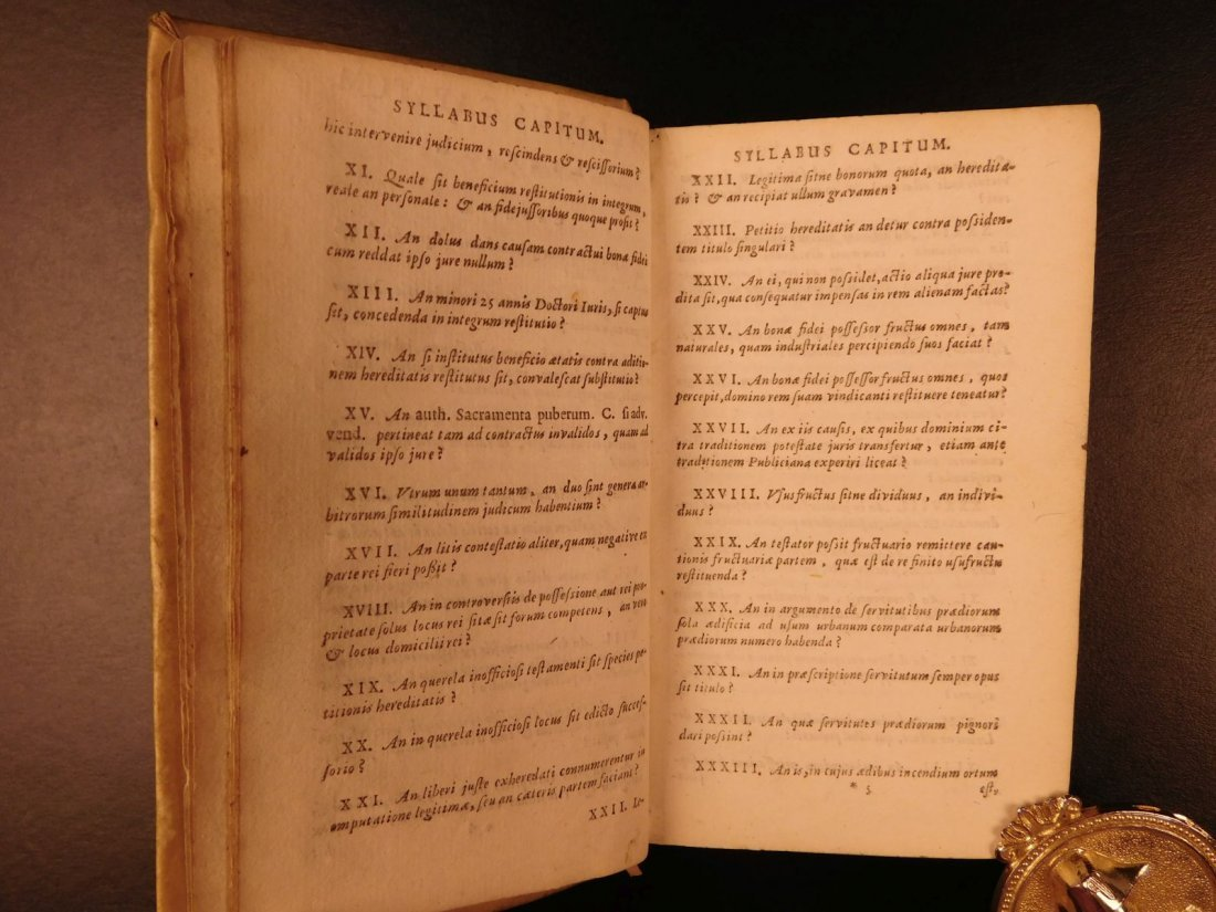 1672 Dutch LAW Commentary Jurisprudence Latin Letters - 6