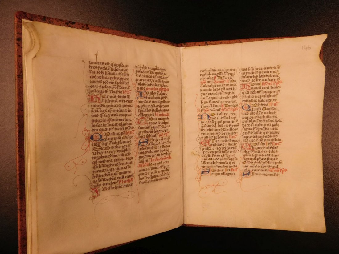 1400s BEAUTIFUL Medieval Manuscript Handwritten Vellum - 5