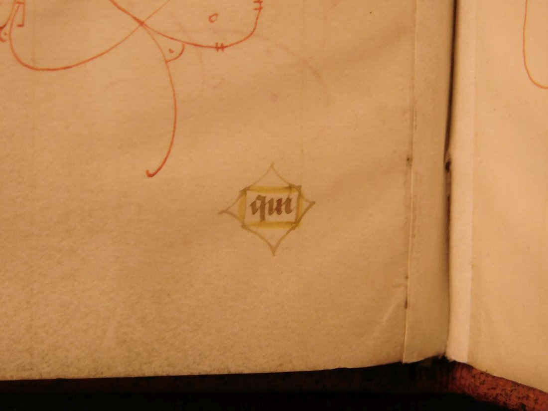 1400s BEAUTIFUL Medieval Manuscript Handwritten Vellum - 8