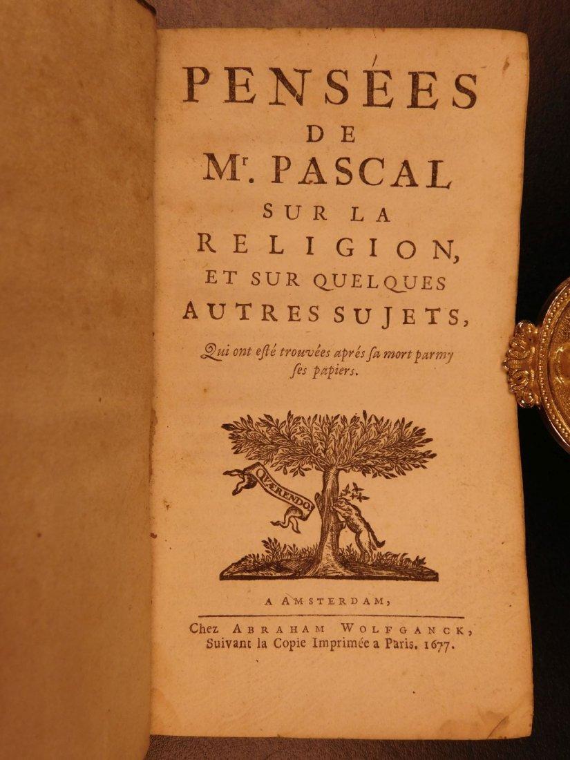 1677 Blaise Pascal PENSEES Christian Apologetic Pascal - 2