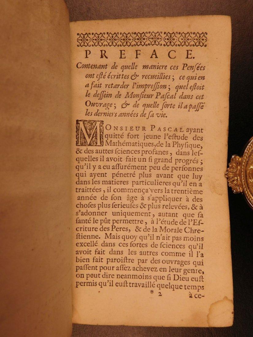 1677 Blaise Pascal PENSEES Christian Apologetic Pascal - 3