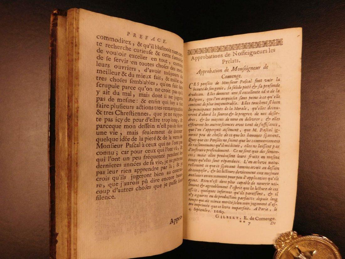 1677 Blaise Pascal PENSEES Christian Apologetic Pascal - 4