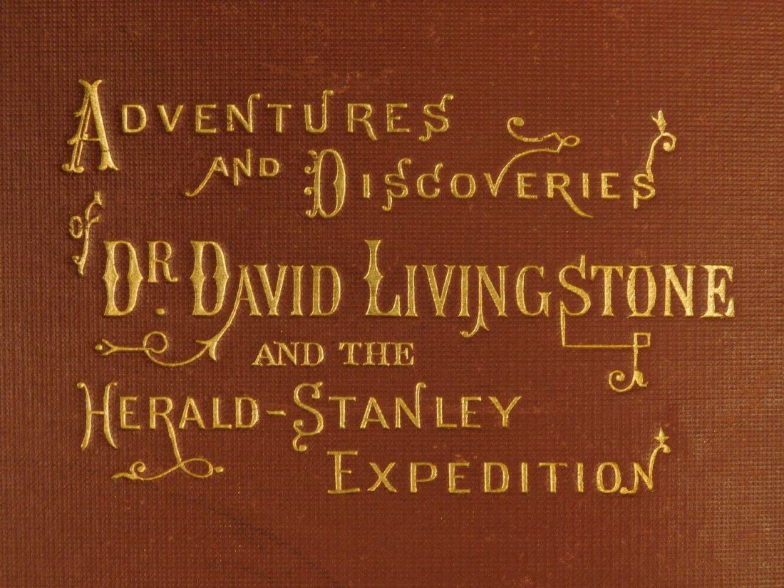 1872 David Livingstone South AFRICA Missionary Voyage - 2