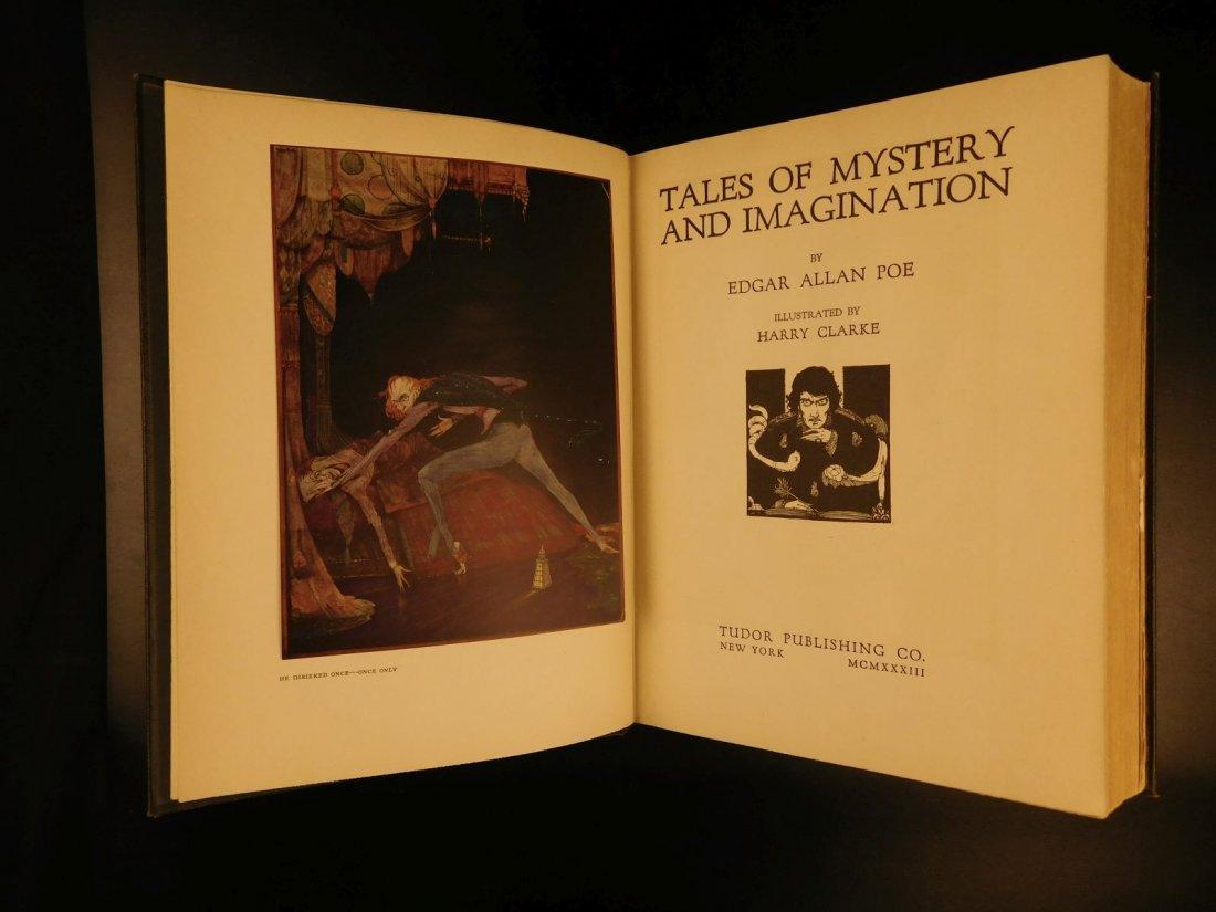 1933 1st ed Edgar Allen Poe Tales of Mystery Clarke Ill - 2