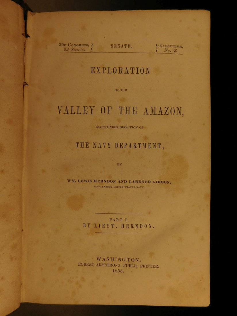 1853 Exploration of Amazon Valley Brazil Navy Voyages - 2