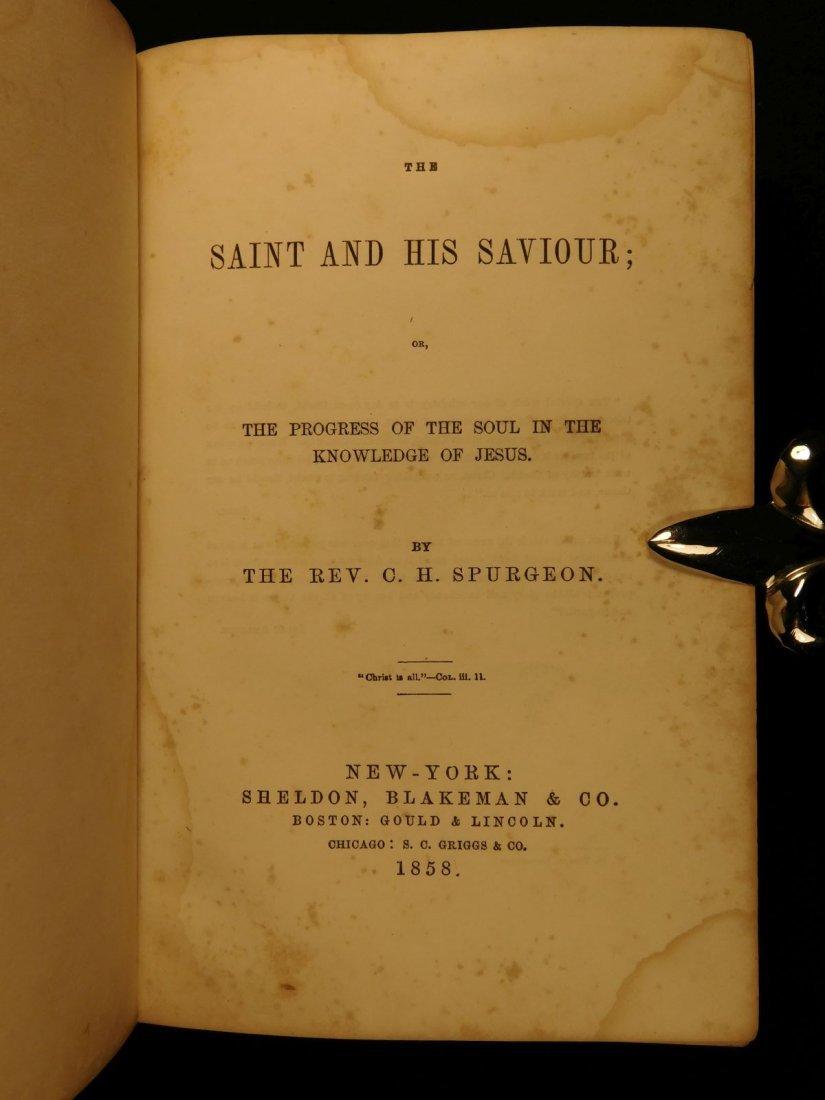 1858 Charles Spurgeon Saint & His Savior Puritan - 2
