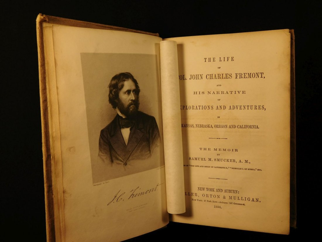 1856 Life of John C Fremont Illustrated American Report - 2