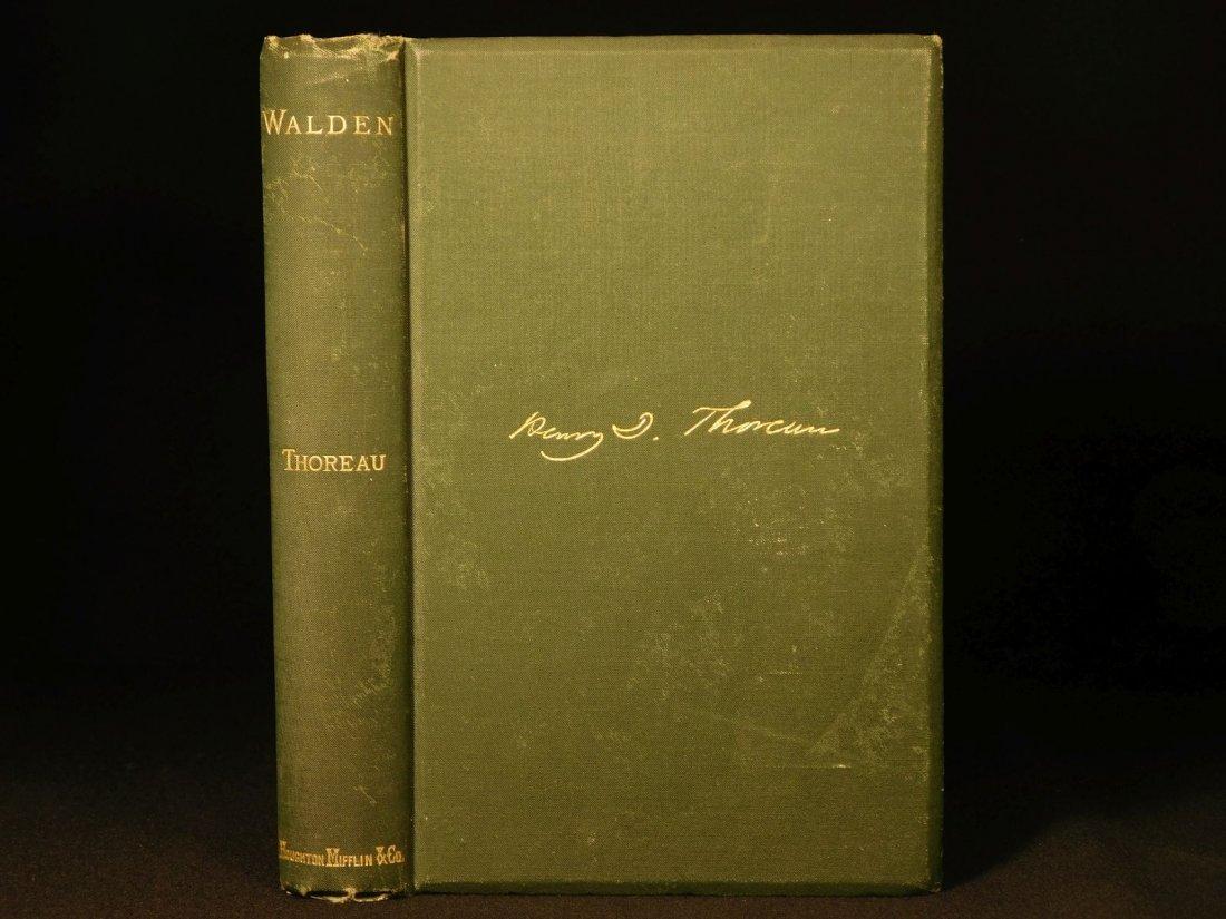 1885 WALDEN by Henry David Thoreau Massachusetts