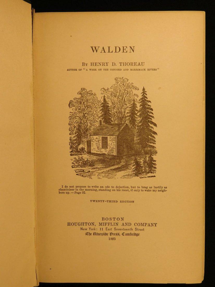 1885 WALDEN by Henry David Thoreau Massachusetts - 3