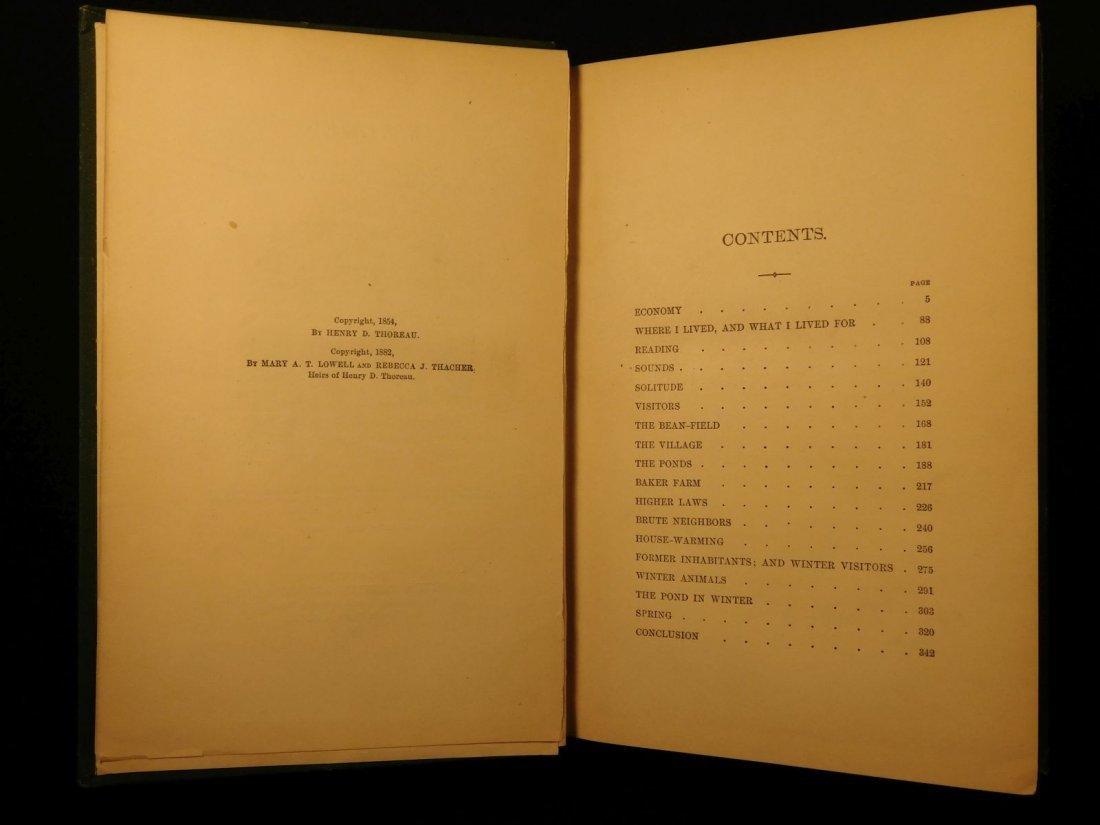 1885 WALDEN by Henry David Thoreau Massachusetts - 4