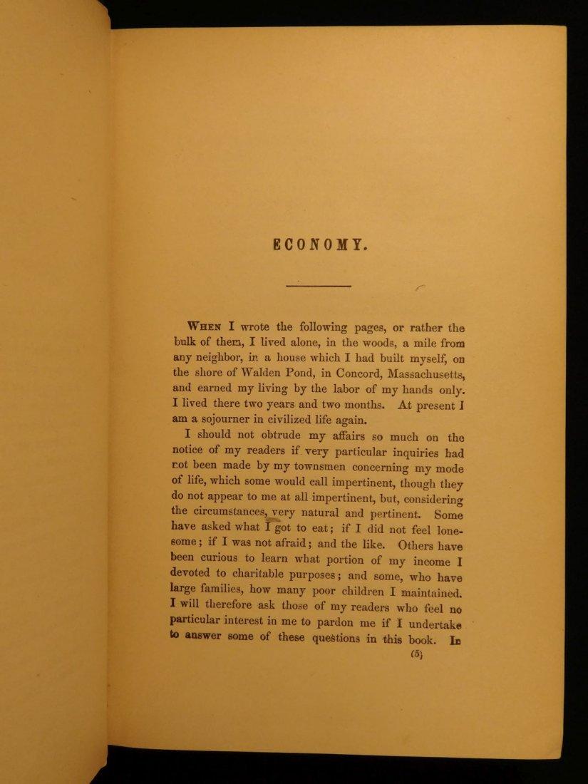 1885 WALDEN by Henry David Thoreau Massachusetts - 5