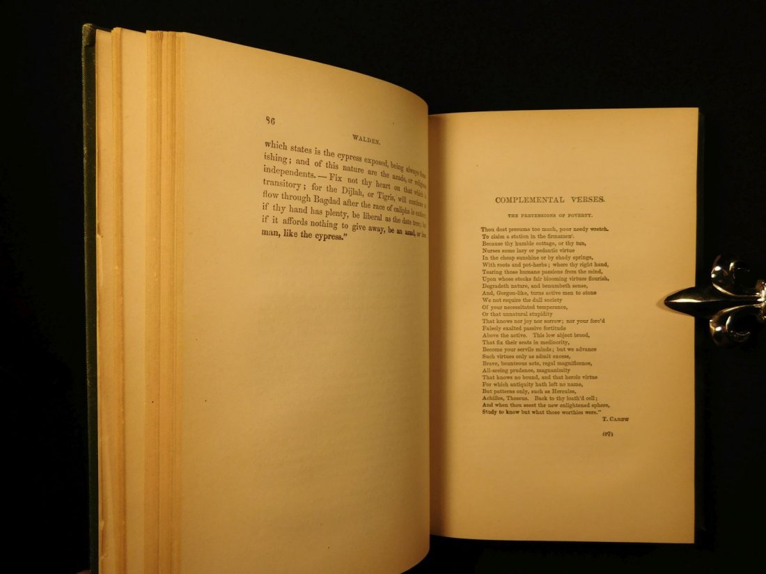 1885 WALDEN by Henry David Thoreau Massachusetts - 7