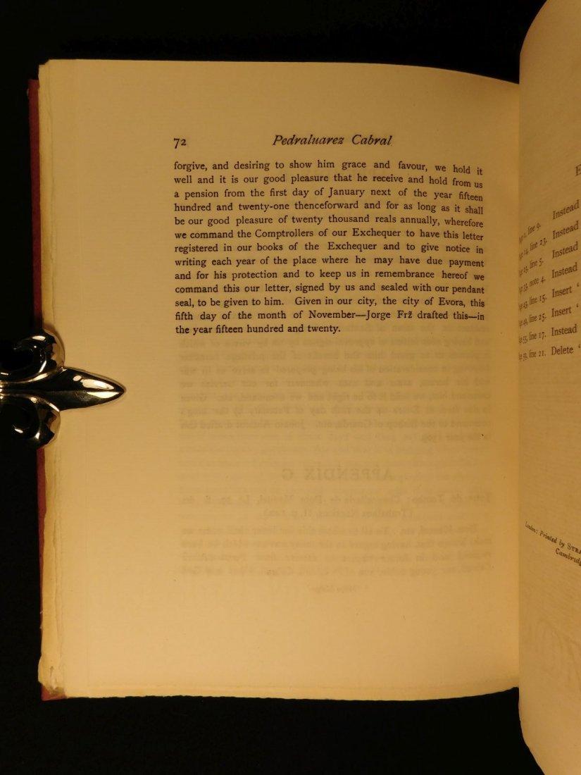 1914 1st ed Pedro Alvarez Cabral Voyages America India - 10