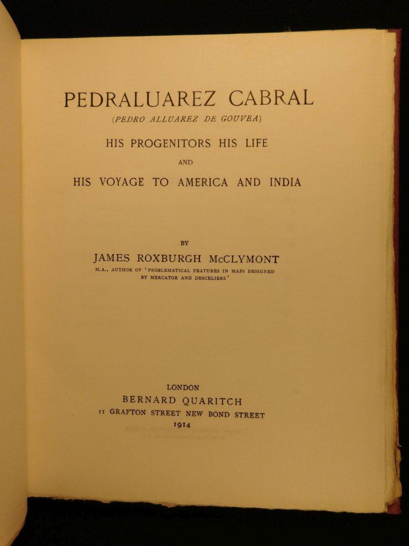 1914 1st ed Pedro Alvarez Cabral Voyages America India - 2