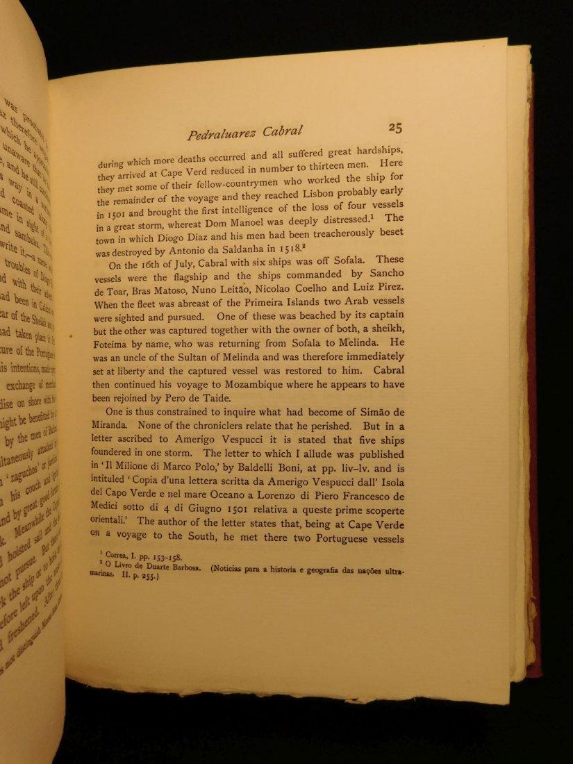 1914 1st ed Pedro Alvarez Cabral Voyages America India - 4