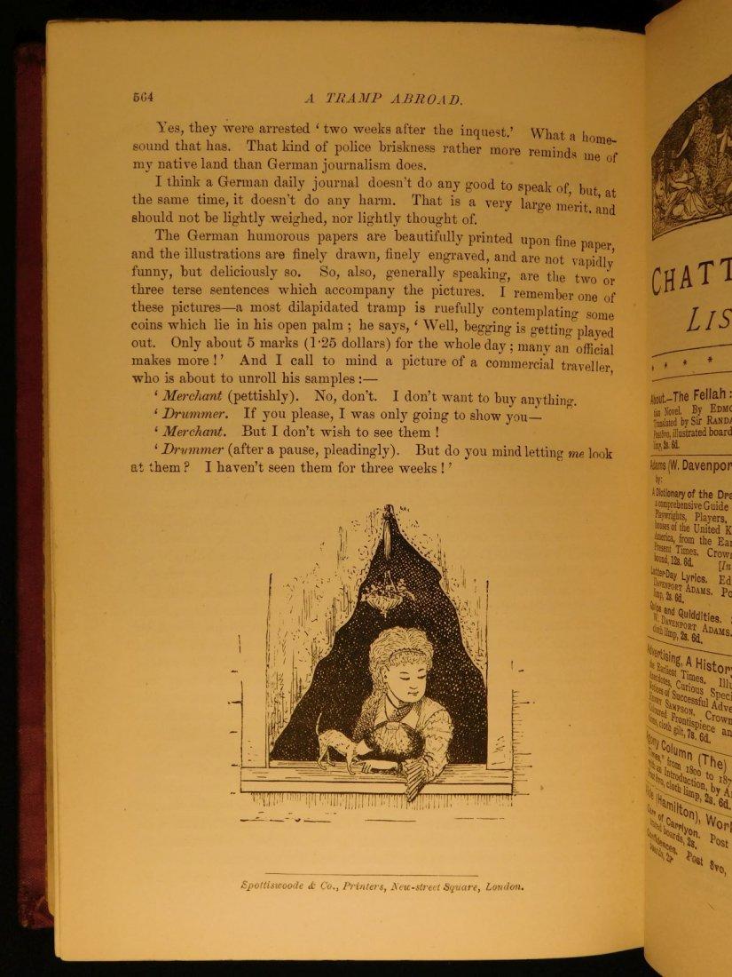 1882 1st ed UK A Tramp Abroad Mark Twain Travel - 10