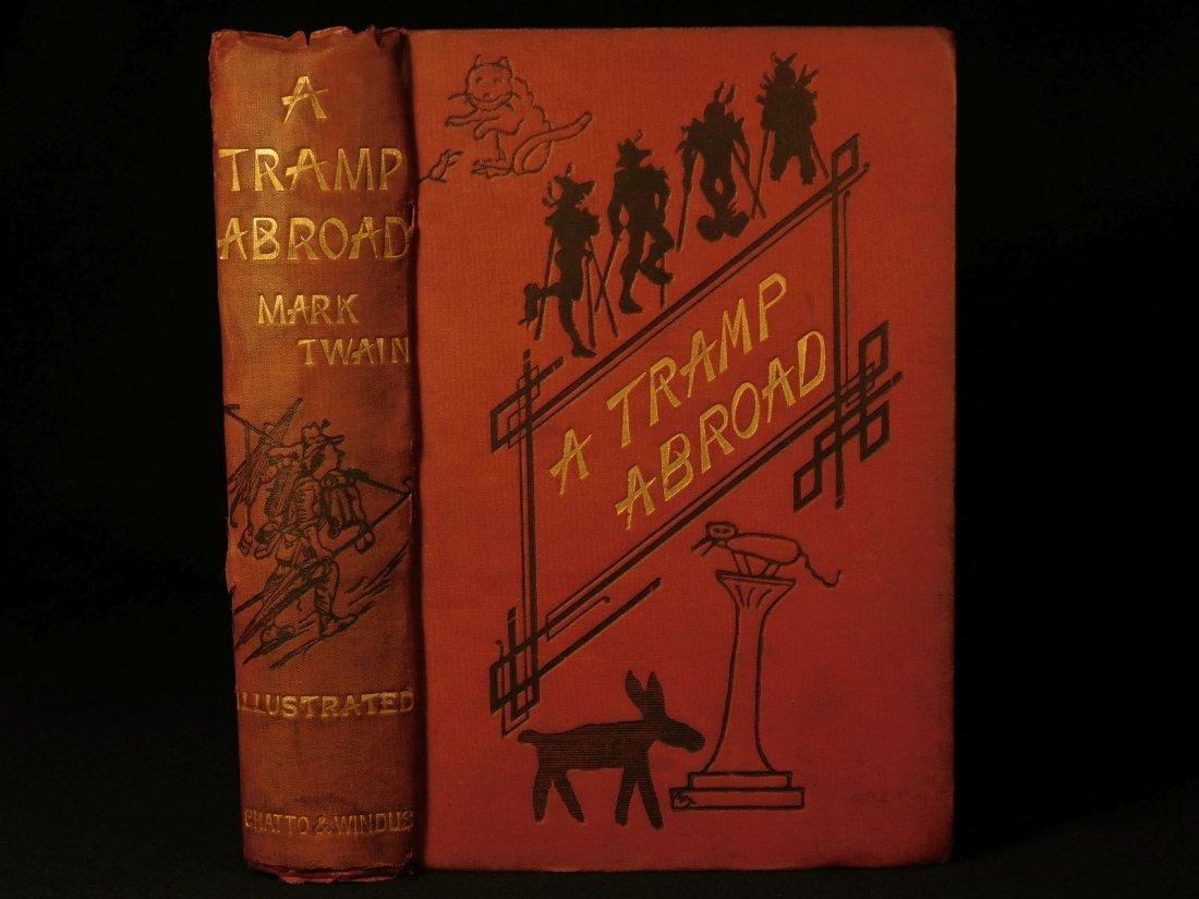 1882 1st ed UK A Tramp Abroad Mark Twain Travel