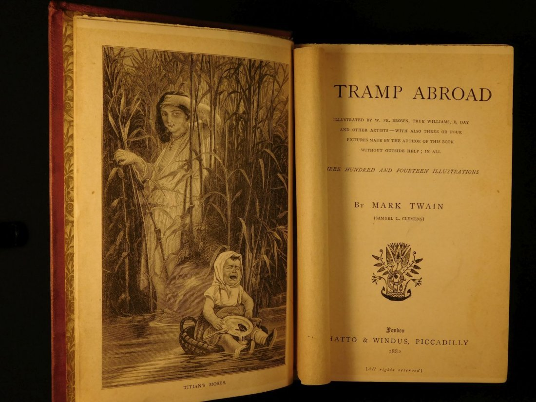 1882 1st ed UK A Tramp Abroad Mark Twain Travel - 2