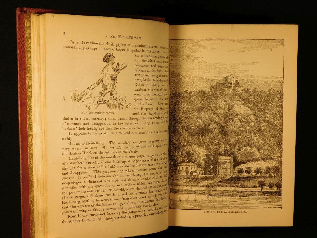 1882 1st ed UK A Tramp Abroad Mark Twain Travel - 5