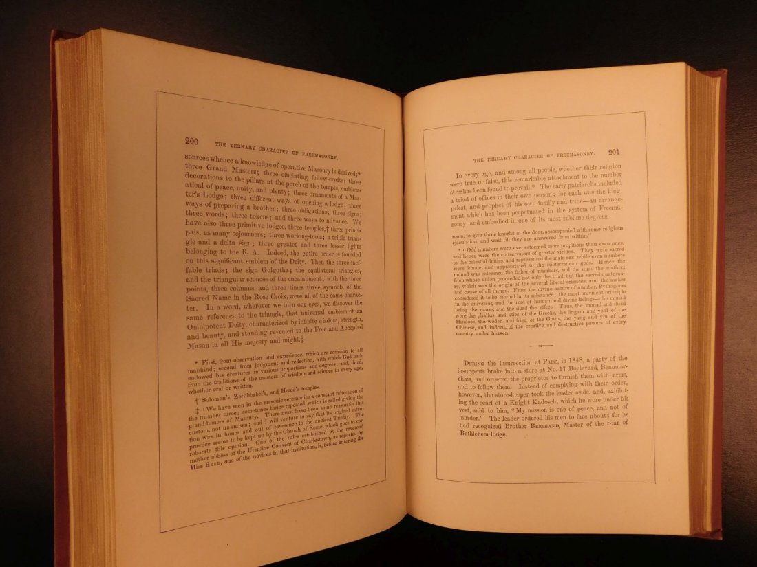 1877 Masonic Sketch Book Illustrated Masons Washington - 10