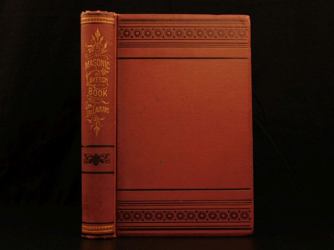 1877 Masonic Sketch Book Illustrated Masons Washington