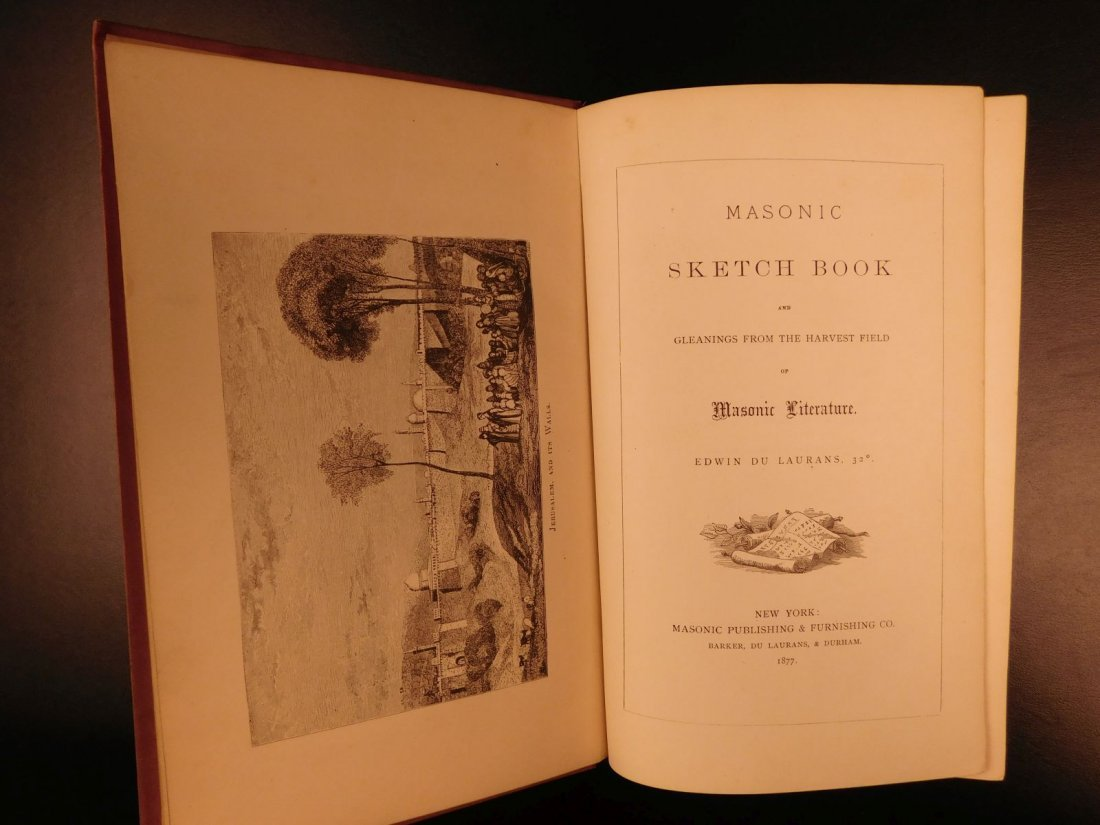 1877 Masonic Sketch Book Illustrated Masons Washington - 2