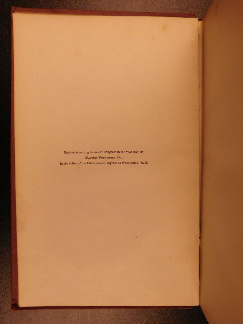 1877 Masonic Sketch Book Illustrated Masons Washington - 3