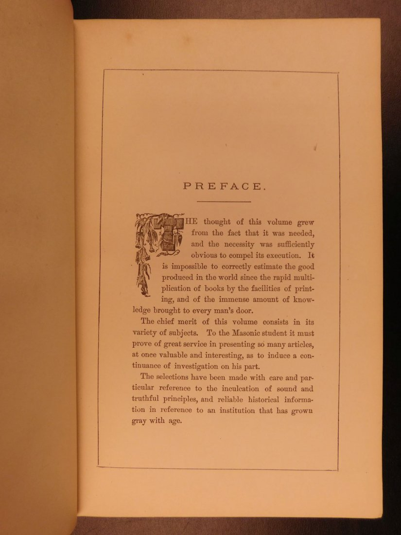 1877 Masonic Sketch Book Illustrated Masons Washington - 4