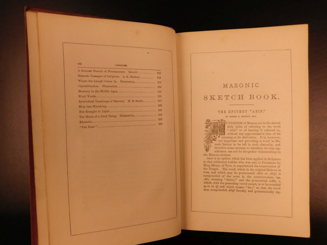 1877 Masonic Sketch Book Illustrated Masons Washington - 6