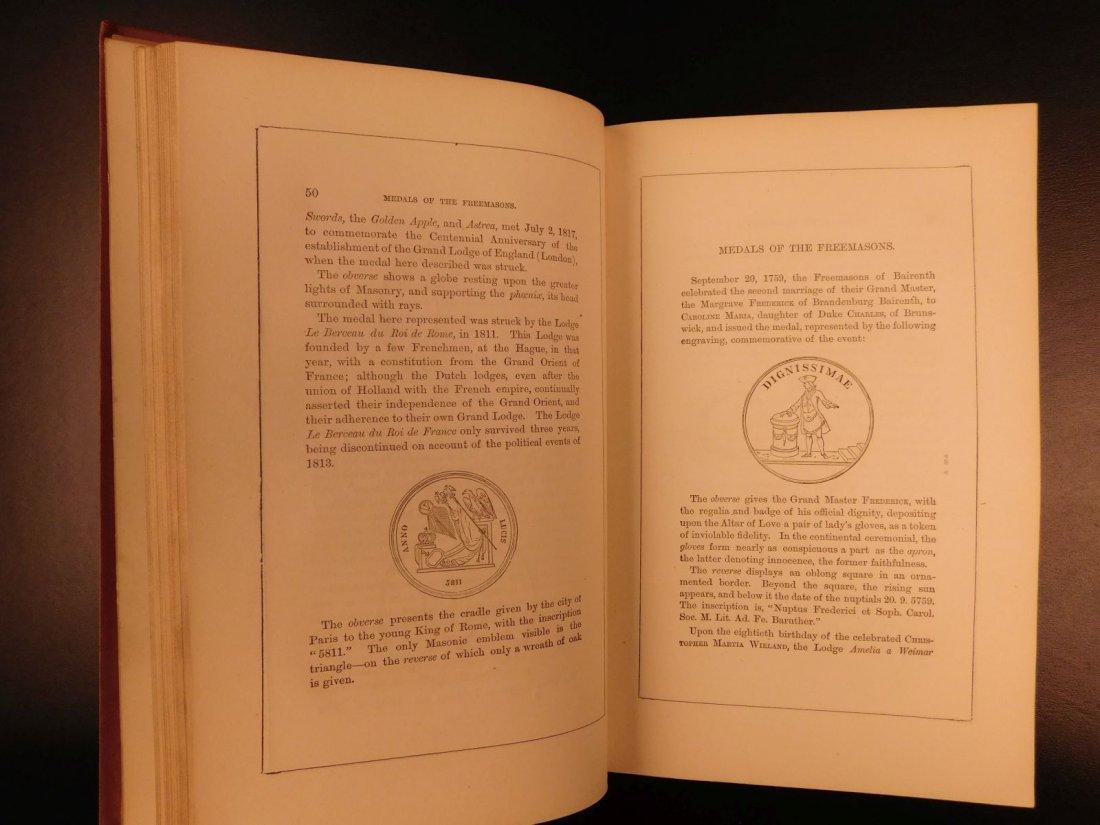 1877 Masonic Sketch Book Illustrated Masons Washington - 7