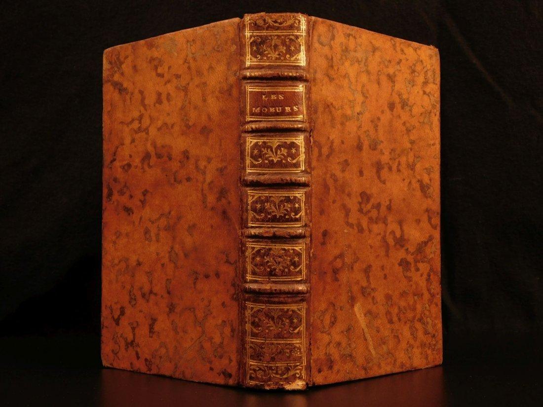 1777 Banned Book Les Moeurs Francois Toussaint Louis XV