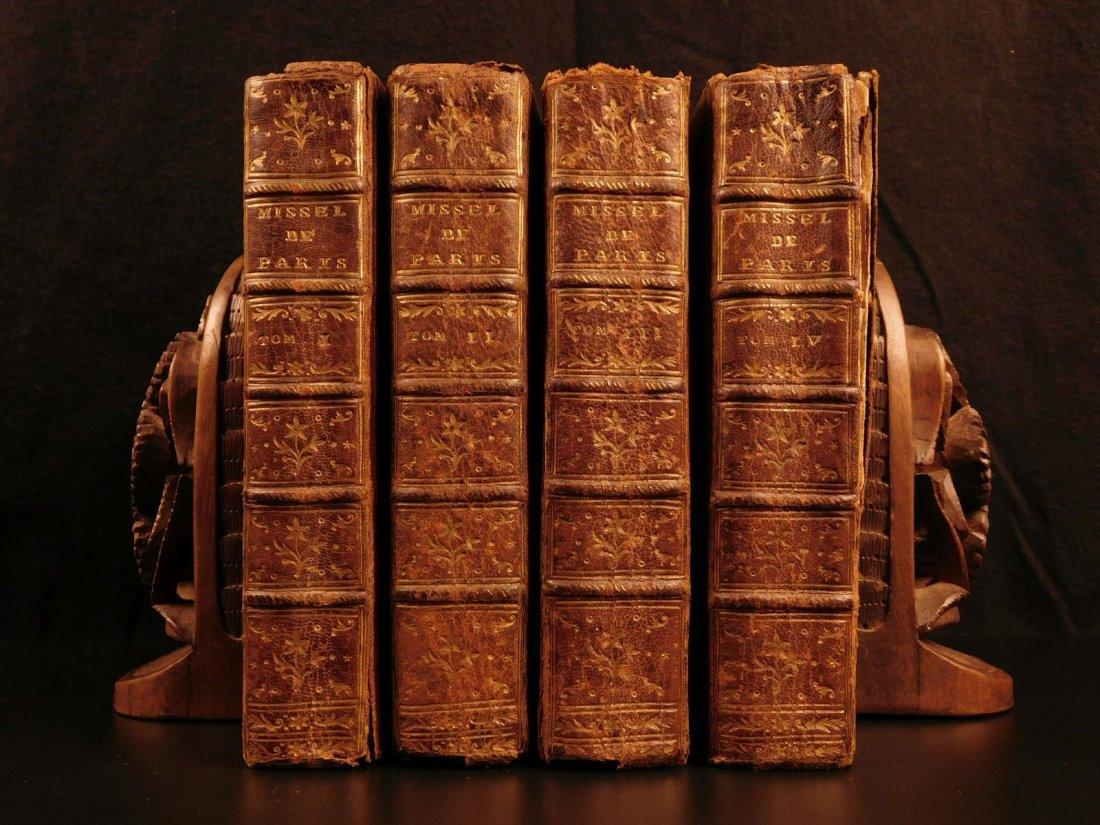 1752 Catholic Missal of Paris Latin & French Liturgy
