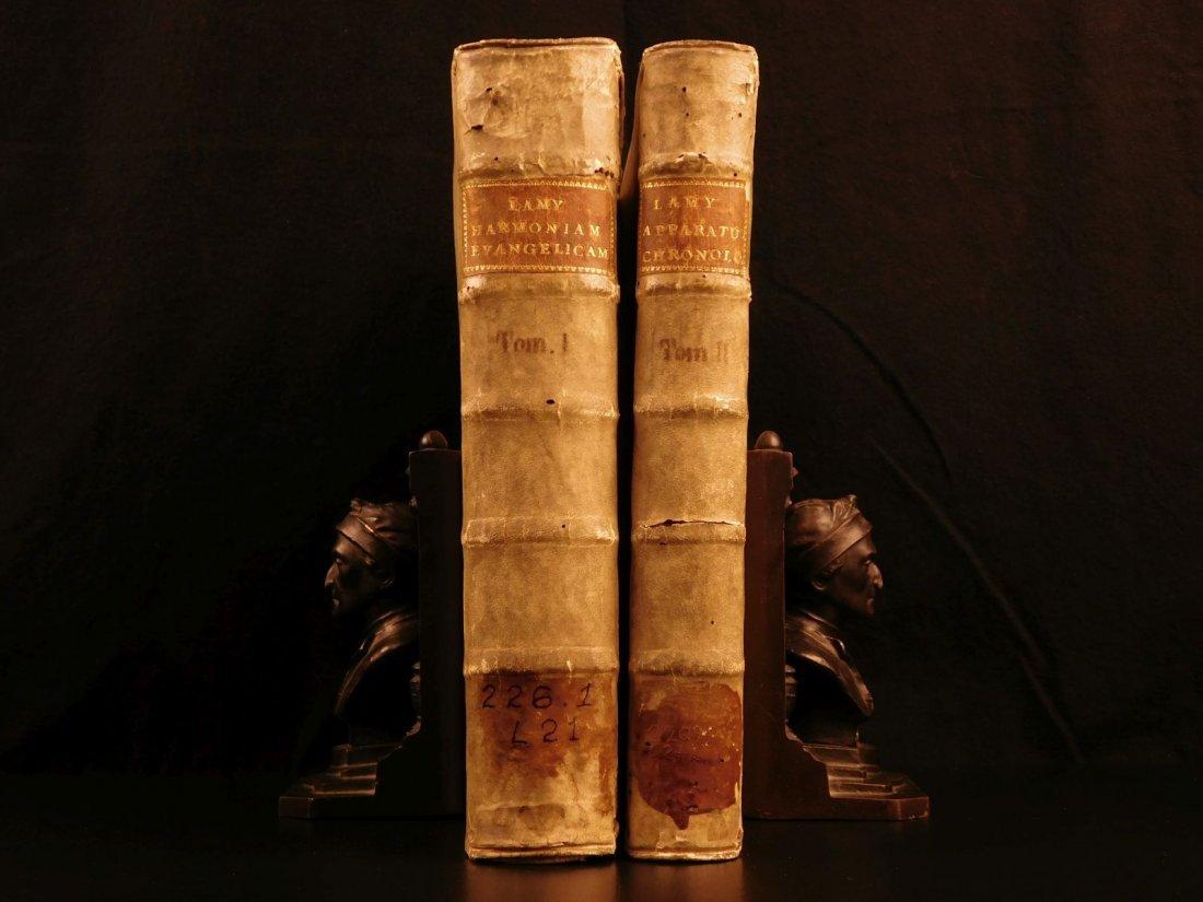 1699 Bible Commentary Holy Land Maps Gospel Harmony