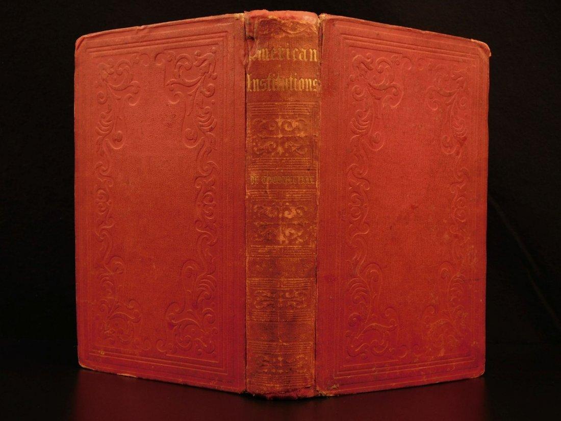 1851 Democracy in America de Tocqueville Political