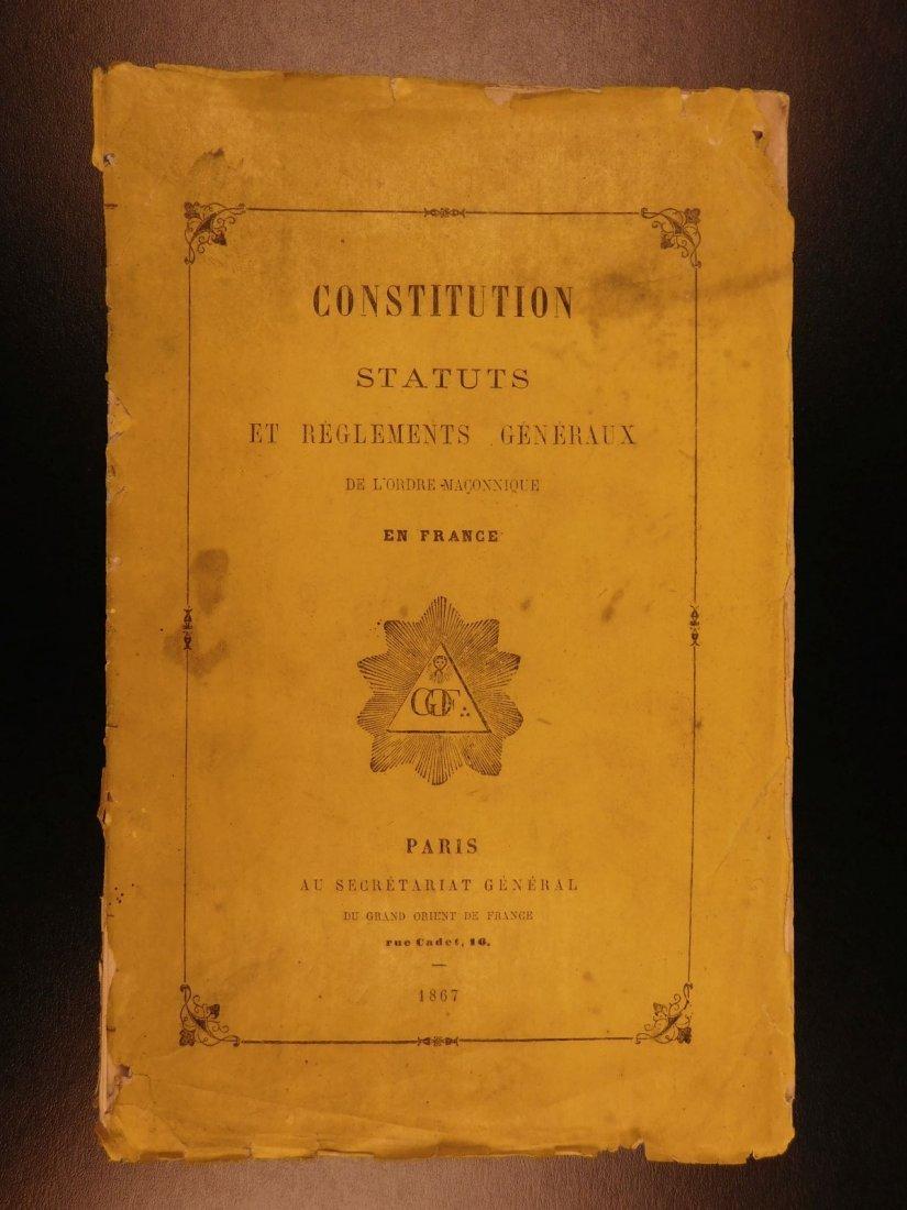 1867 Freemasonry Masonic Rites Constitution of Grand