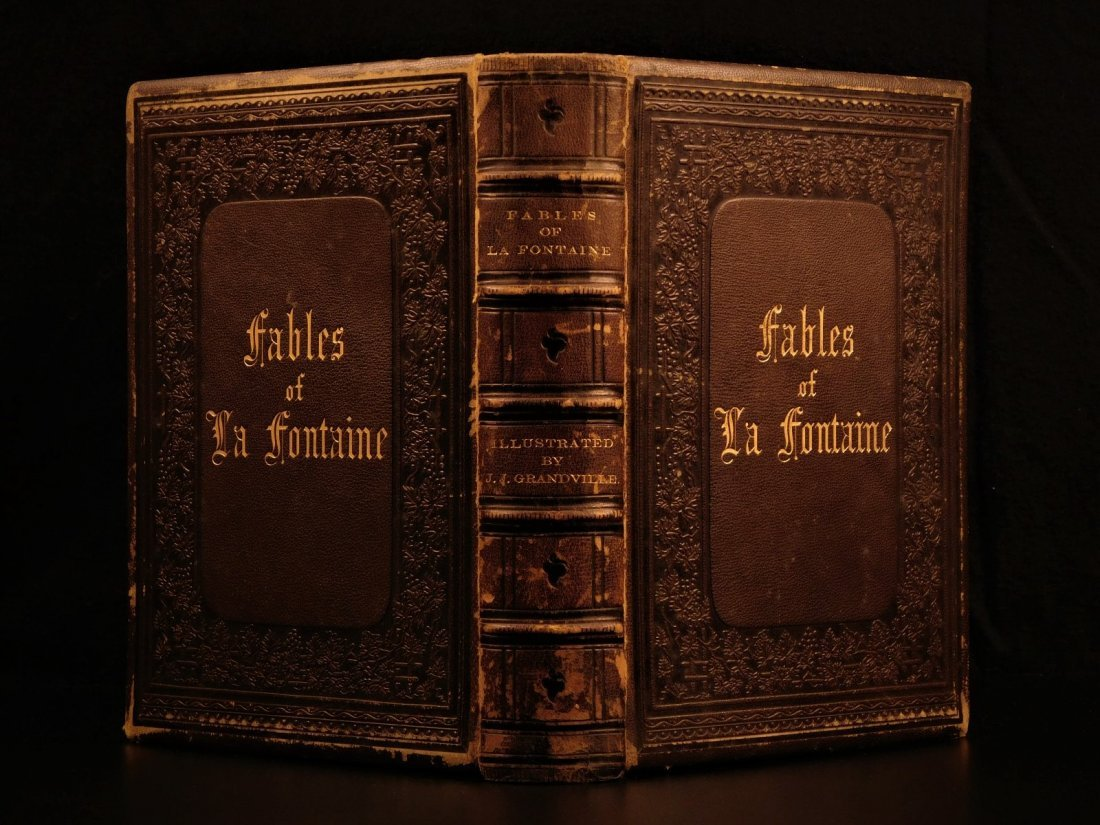 1860 Fables of Jean de la Fontaine English Grandville