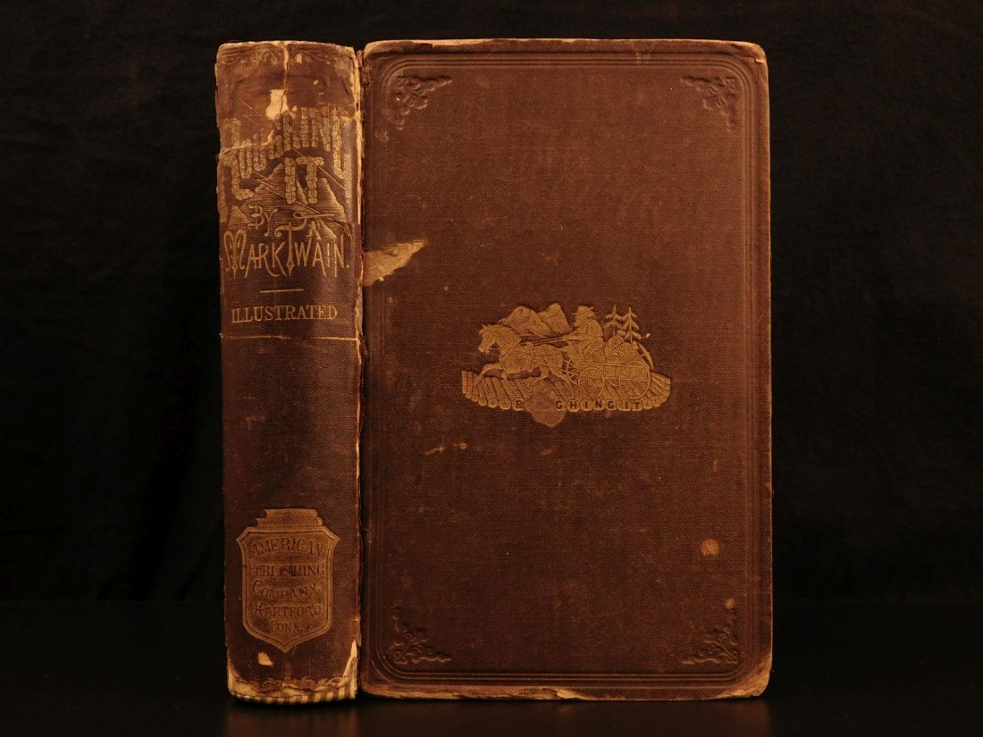1872 1st ed Roughing It Mark Twain American Wild West