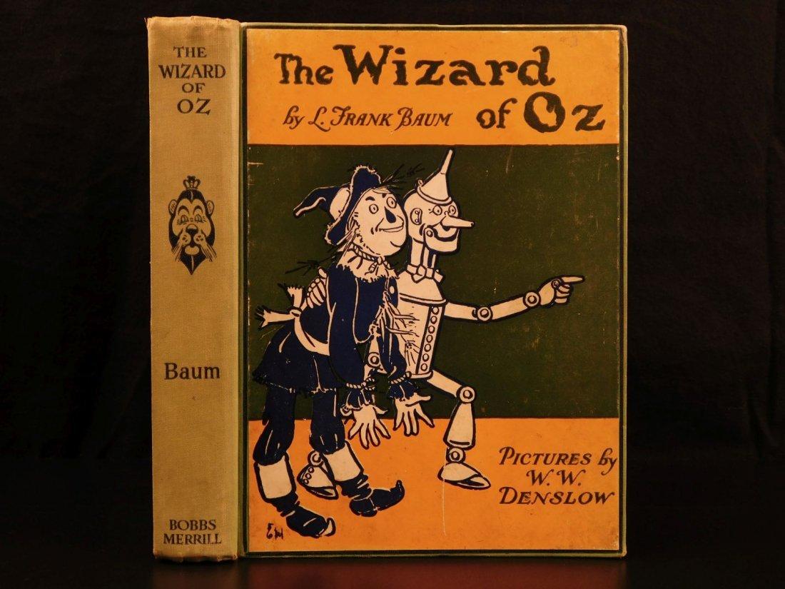 1903 WIZARD of OZ Baum Illustrated Denslow Fantasy