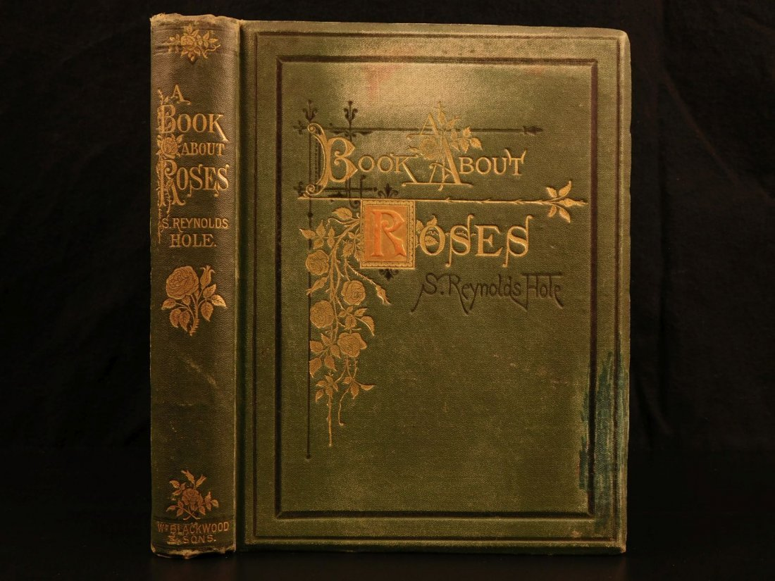1872 Book about Roses by Reynolds Hole Flowers Garden