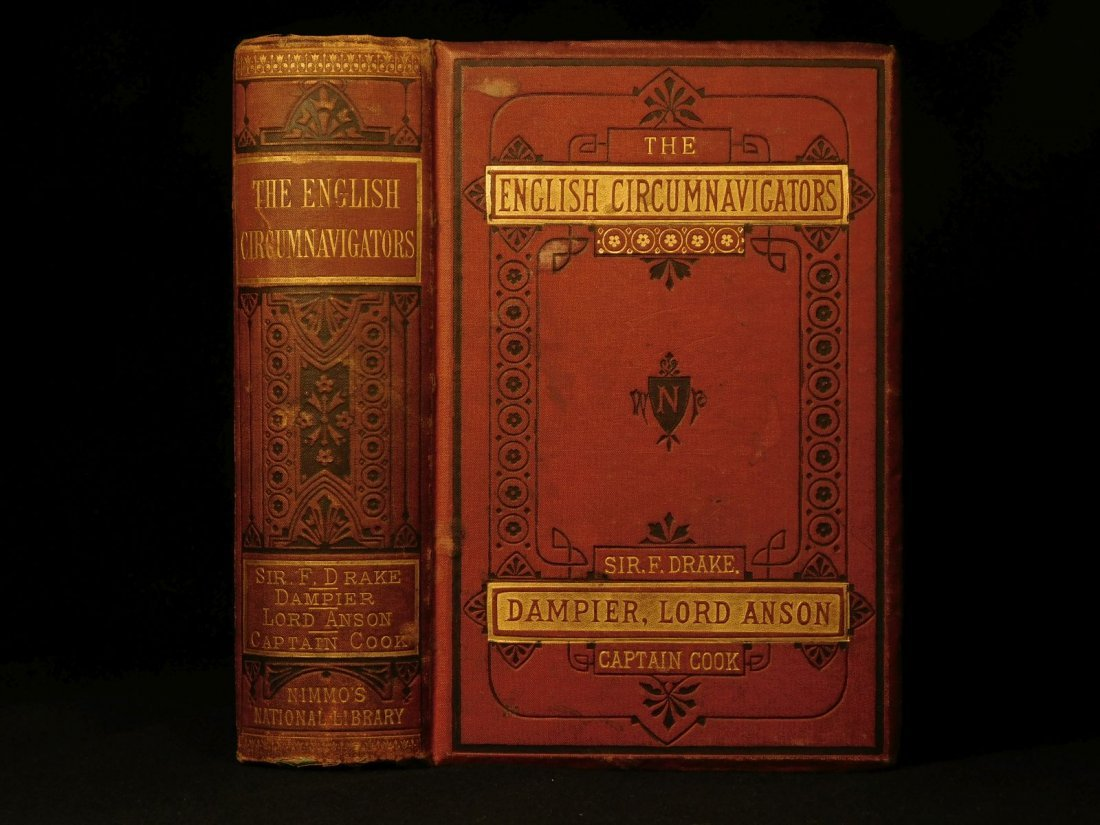 1876 English Circumnavigators Voyages Cook Dampier