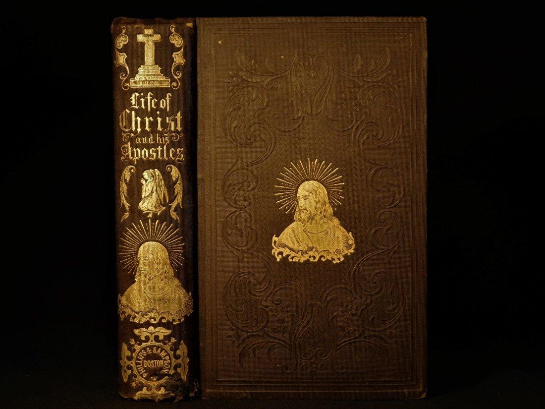 1855 EXQUISITE Life of Jesus Christ by Fleetwood Bible