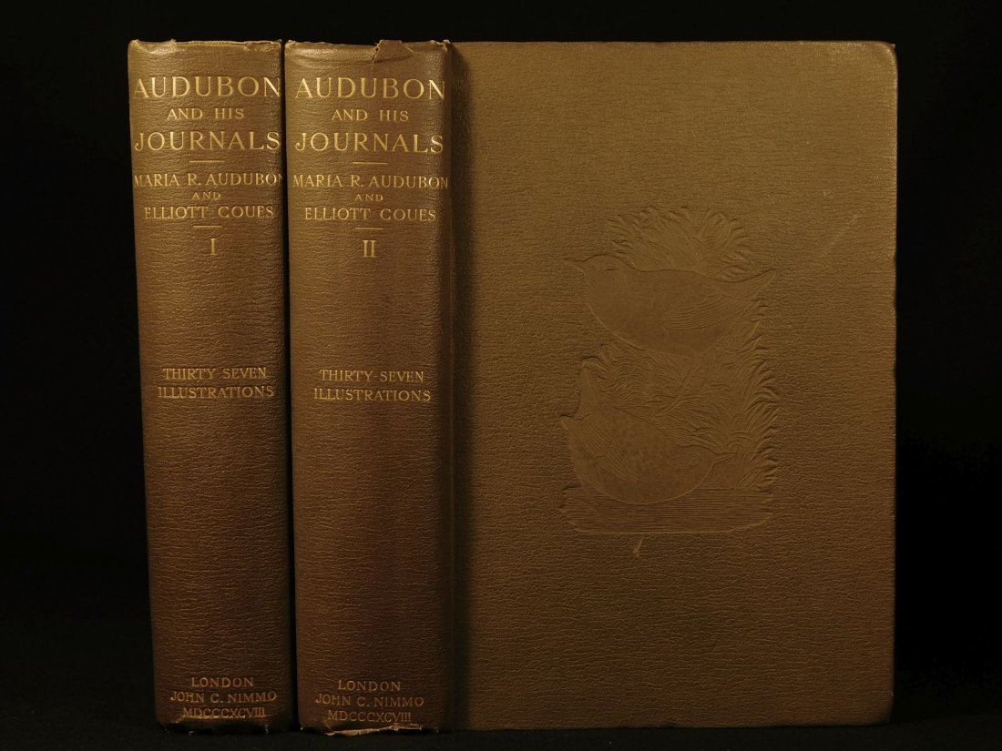 1898 1ed James Audubon Travel Journals Illustrated
