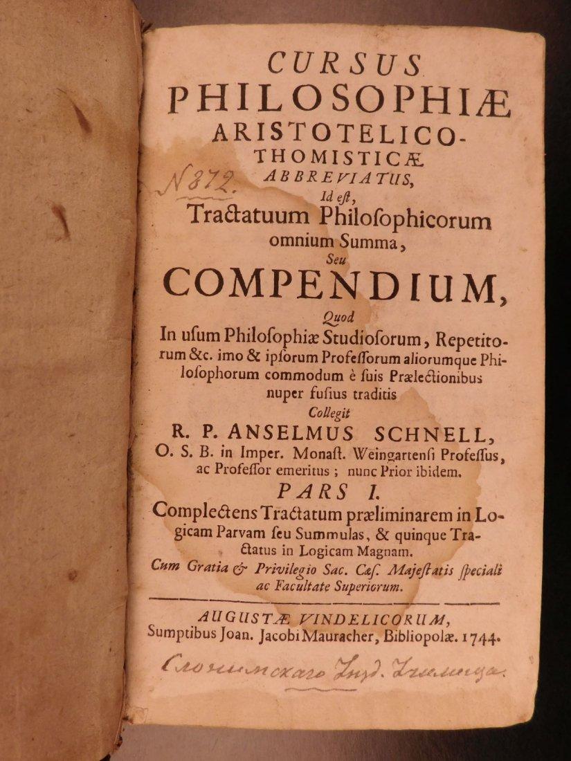 1744 Philosophy & Metaphysics Anselm Schnel Cursus - 2