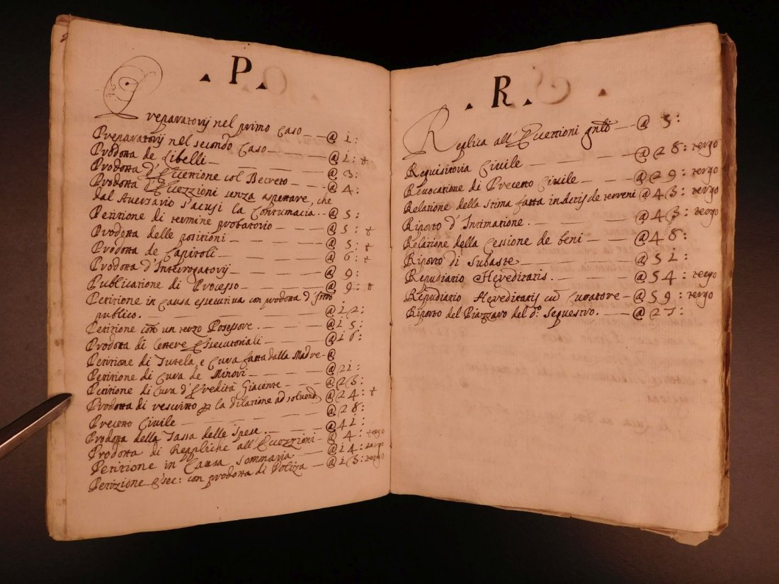 1740 LAW Handwritten Manuscript Praxis Civilis Civil - 6