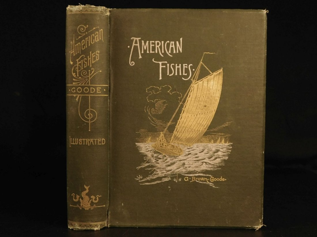 1888 1ed FISHING American Fishes by Goode Illustrated