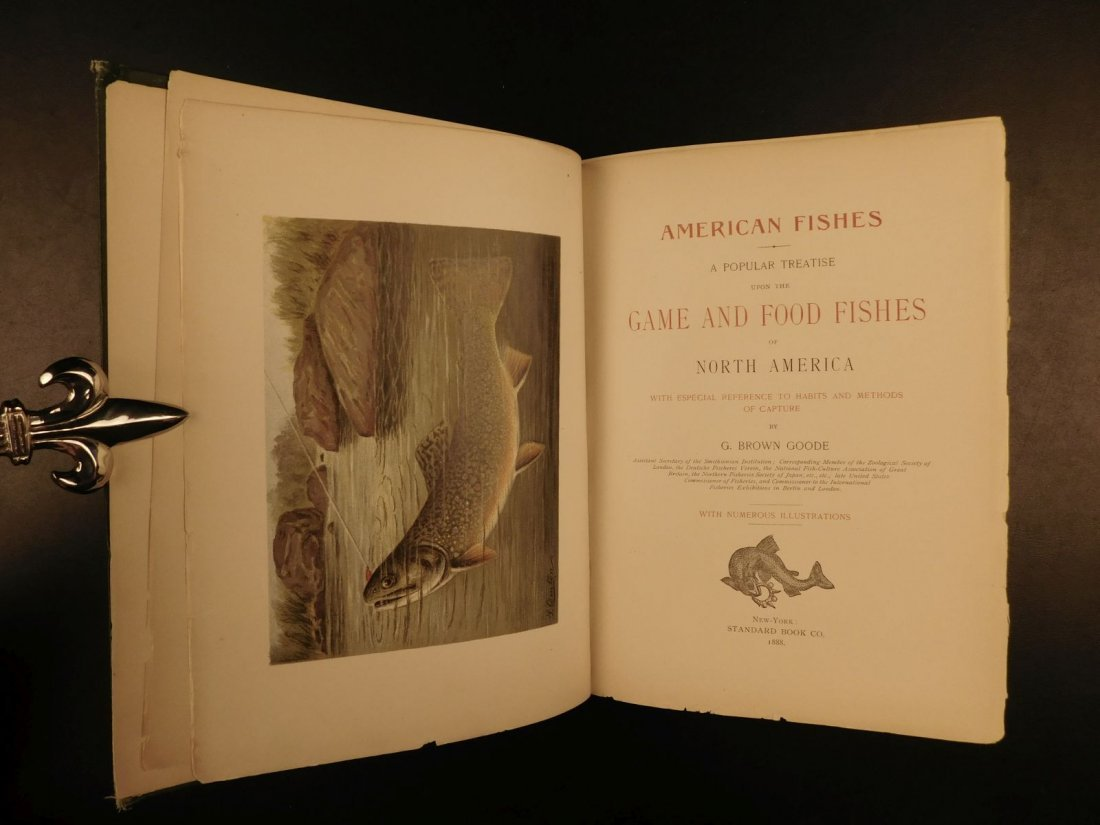 1888 1ed FISHING American Fishes by Goode Illustrated - 3