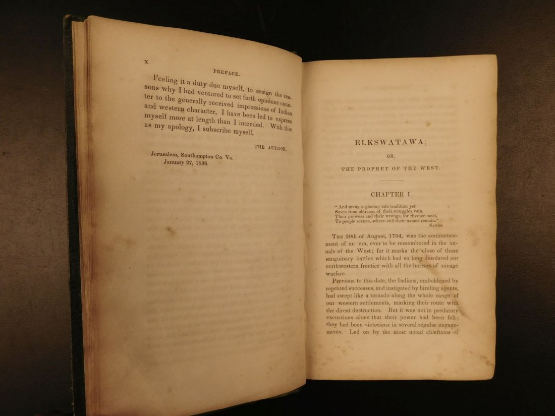 1836 1st ed Elkswatawa Native American INDIANS Slaves - 5