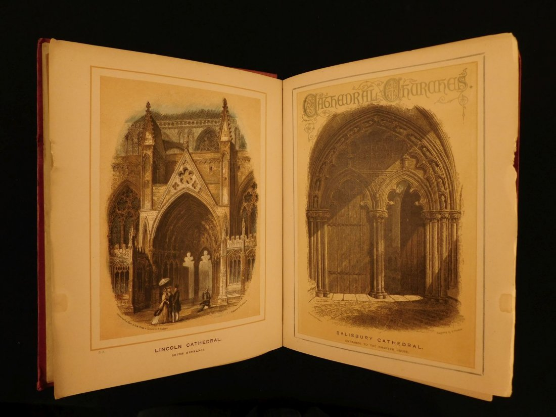 1887 1st British Cathedrals Architecture Illustrated - 2