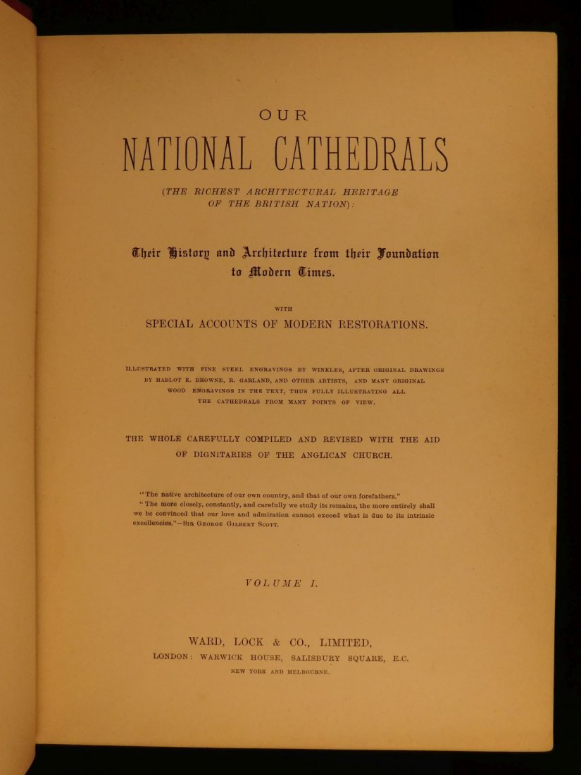 1887 1st British Cathedrals Architecture Illustrated - 3